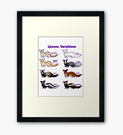 Pokemon Linoone Variations Framed Print