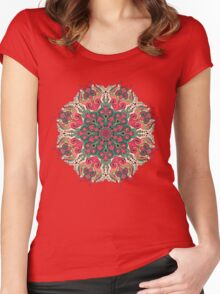 Psychedelic ornament Women's Fitted Scoop T-Shirt
