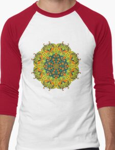 Psychedelic ornament Men's Baseball ¾ T-Shirt