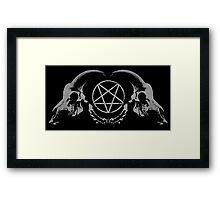 Satanic Skull Framed Print