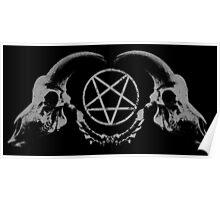 Satanic Skull Poster