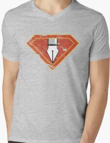 Ps/Ai Superheroes Mens V-Neck T-Shirt