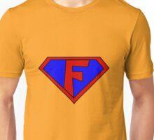 Hero, Heroine, Superhero, Initials,  F Unisex T-Shirt