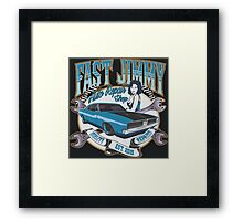 FAST JIMMY AUTO REPAIR SHOP Framed Print