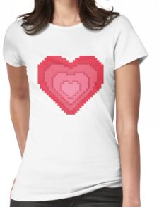 Abstract 8-bit oldschool heart  Womens Fitted T-Shirt