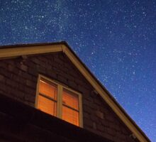 Night sky in Painswick, UK Sticker