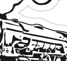 dampflok railroad locomotive tender romance Sticker