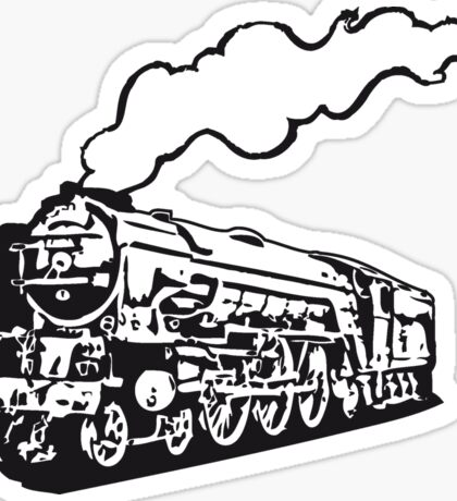 dampflok railroad locomotive tender romance Sticker