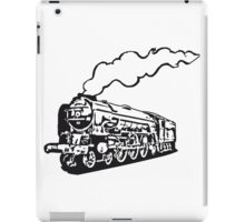 dampflok railroad locomotive tender romance iPad Case/Skin