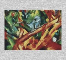 Monkey After Franz Marc, 1912 One Piece - Long Sleeve