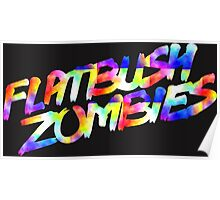 Flatbush Zombies text Poster