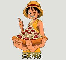 Luffi eat Pizza - One Piece Unisex T-Shirt