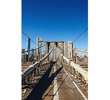 Crossing the Brooklyn Bridge Photographic Print