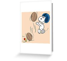 snoopy sport Greeting Card