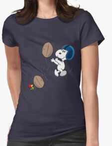 snoopy sport Womens Fitted T-Shirt