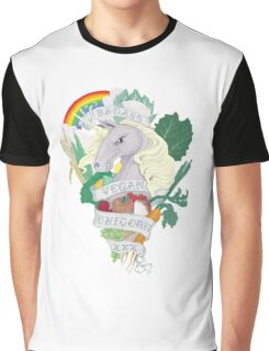 Bad*ss Vegan Unicorn Graphic T-Shirt