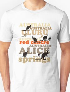 Aussie t-shirt design featuring roos and lettering T-Shirt
