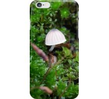 Toadstool in moss iPhone Case/Skin