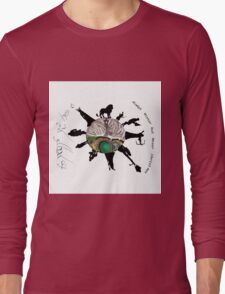 Narnia meets Middle earth  Long Sleeve T-Shirt