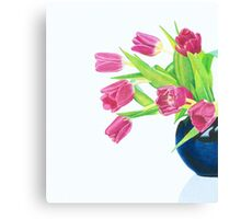 Pink tulips. Canvas Print