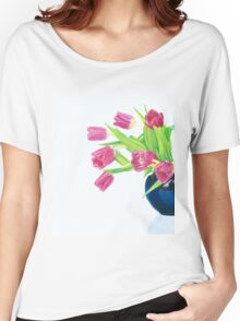 Pink tulips. Women's Relaxed Fit T-Shirt