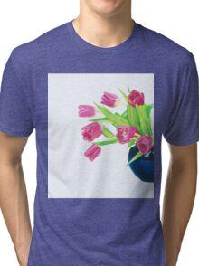 Pink tulips. Tri-blend T-Shirt