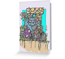 who watches the troll bridge? Greeting Card