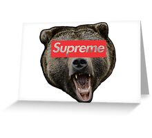 supreme bear Greeting Card