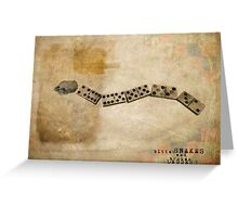 Bitter Snakes and Broken Ladders Greeting Card