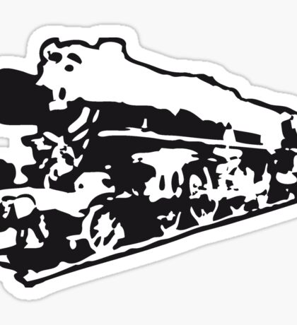 dampflok railroad locomotive old Sticker