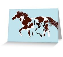 mare and its foal Greeting Card