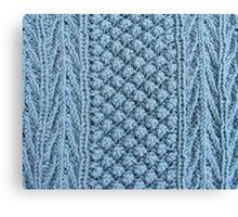 Hand Knitting Pattern Design Canvas Print