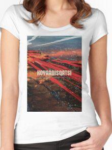 Koyaanisqatsi Poster Women's Fitted Scoop T-Shirt