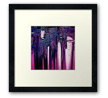 Cherry-coloured Funk Framed Print