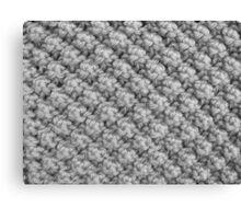 Hand Knitting Bobble Pattern Canvas Print