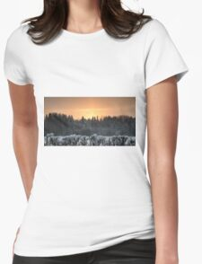 Winter evening Womens Fitted T-Shirt