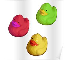 Rainbow Ducks Poster
