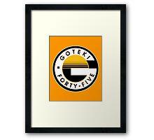 Wipeout - Goteki - 50s Style Framed Print
