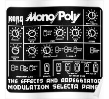 Synthesizer Korg MonoPoly Poster
