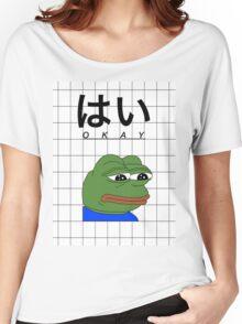 Pepe meme vaporwave aesthetics Women's Relaxed Fit T-Shirt