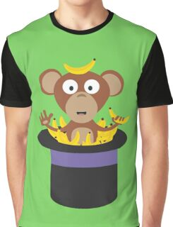 sweet monkey with bananas in hat  Graphic T-Shirt