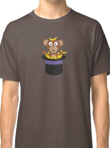 sweet monkey with bananas in hat  Classic T-Shirt