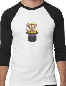 sweet monkey with bananas in hat  Men's Baseball ¾ T-Shirt