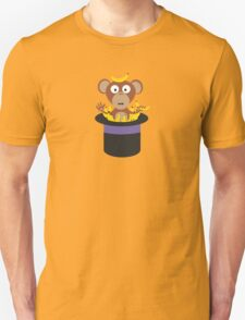 sweet monkey with bananas in hat  T-Shirt