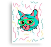 Cat vaporwave aesthetics Canvas Print