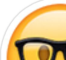 Nerd Emoji Sticker Sticker