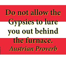 Do Not Allow The Gypsies - Austrian Proverb Photographic Print