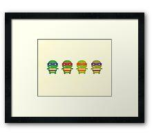Teenage Mutant Ninja Kawaii Turtles Framed Print
