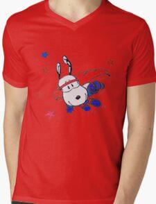 snoopyhero Mens V-Neck T-Shirt