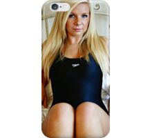 Black Sports Swimsuit iPhone Case/Skin